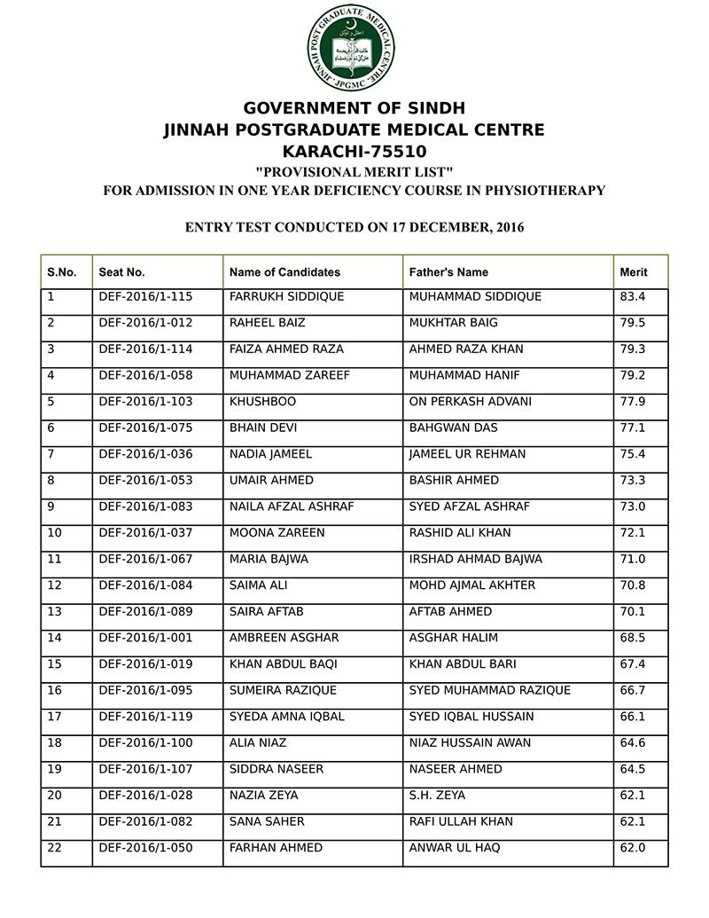 Jinnah Postgraduate Medical Centre JPMC Karachi 75510  